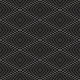 Fond sans couture antique Diamond Check Cross Vortex Frame Lin Images stock