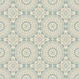 Fond sans couture antique Dot Line Frame Flower croisé rond illustration libre de droits