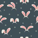 Fond sans couture avec Bunny Ears illustration stock