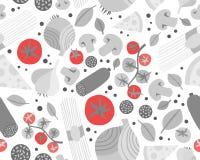 Fond sans couture avec de diverses épiceries Photo libre de droits