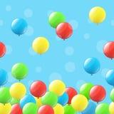 Fond sans couture avec des ballons Photo stock