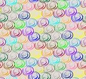 Fond sans couture avec des cercles dans des tons chauds illustration stock