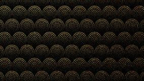 Fond sans couture avec des cercles, mod?le g?om?trique de points Graphique fait une boucle du mouvement 4K illustration stock