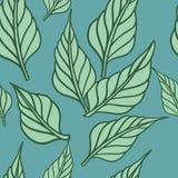 Fond sans couture avec des feuilles. Illustration ENV 8 de vecteur Images libres de droits