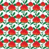 Fond sans couture avec des fleurs de wartah Photo stock