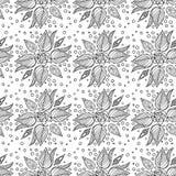 Fond sans couture avec des fleurs sur un fond vert Photos libres de droits
