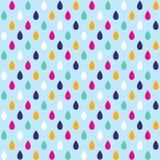 Fond sans couture avec des gouttes de l'eau Photos stock