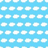 Fond sans couture de nuage Photos libres de droits