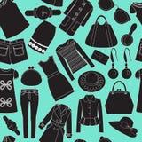 Fond sans couture avec l'habillement Image libre de droits