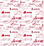 Fond sans couture avec l'inscription d'amour. Photos libres de droits