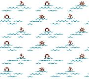 Fond sans couture avec la mer illustration de vecteur