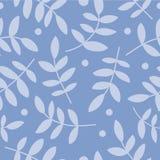 Fond sans couture avec le branche, les feuilles et les points de polka décoratifs Photo libre de droits