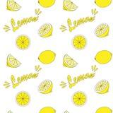Fond sans couture avec le citron Photo libre de droits
