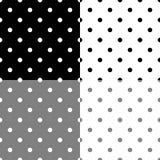 Fond sans couture avec le grand modèle de point de polka Photo stock
