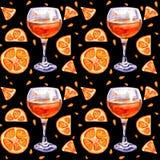 Fond sans couture avec le jus d'orange images libres de droits
