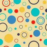 Fond sans couture avec le modèle de point de polka Image stock