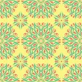Fond sans couture avec le modèle floral Fond jaune, rose et bleu lumineux Photo libre de droits