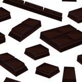 Fond sans couture avec le morceau de barres de chocolat noires illustration de vecteur