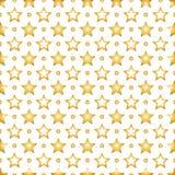 Fond sans couture avec les étoiles d'or sur le fond blanc illustration de vecteur