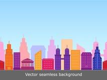 Fond sans couture avec les bâtiments colorés Photographie stock