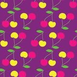 Fond sans couture avec les cerises décoratives Image libre de droits