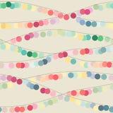 Fond sans couture avec les guirlandes multicolores de cercle Photographie stock libre de droits