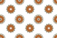Fond sans couture avec les mandalas orientaux illustration stock