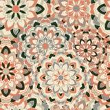 Fond sans couture avec les mandalas symétriques circulaires Photos stock