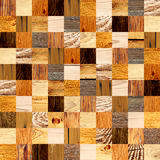Fond sans couture avec les modèles en bois Images libres de droits