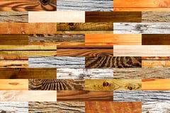 Fond sans couture avec les modèles en bois Images stock
