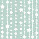 Fond sans couture avec les perles et les étoiles minables Photographie stock