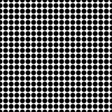 Fond sans couture avec les points noirs Photos libres de droits