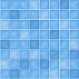 Fond sans couture avec les tuiles de mosaïque bleues Image libre de droits
