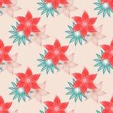 Fond sans couture avec un arrangement floral illustration de vecteur