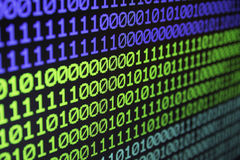 Fond sans couture binaire de code de données d'ordinateur de matrice Morue binaire photos libres de droits