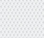 Fond sans couture blanc hexagonal Photos libres de droits
