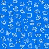 Fond, sans couture, bleu, catégories de produit, magasin en ligne illustration libre de droits