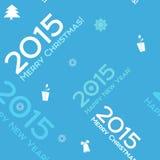 Fond sans couture bleu 2015 de Noël Image libre de droits