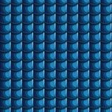 Fond sans couture bleu de tuiles de toit de bande dessinée illustration de vecteur