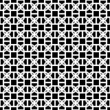 Fond sans couture décoratif monochrome de modèle de vecteur de conception Photographie stock