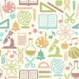 Fond sans couture d'écoliers Images libres de droits