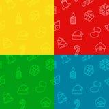 Fond sans couture d'éléments de Noël de modèle illustration libre de droits