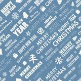 Fond sans couture d'éléments de saison de Noël Photographie stock