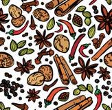 Fond sans couture d'épices élégantes Image stock