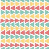 Fond sans couture d'été d'horizon de vintage de modèle géométrique grunge coloré de triangle illustration libre de droits