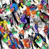Fond sans couture d'abrégé sur aquarelle, carte, modèle, tache, éclaboussure de peinture, tache, divorce Silhouette abstraite de  photographie stock
