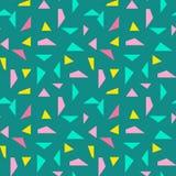 Fond sans couture d'abrégé sur modèle de triangle avec à la mode en pastel de Memphis de texture géométrique Photographie stock libre de droits