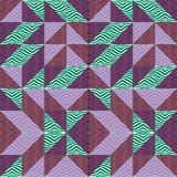 Fond sans couture d'abrégé sur modèle de triangle avec à la mode en pastel de Memphis de texture géométrique Photos stock