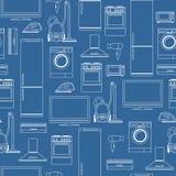 Fond sans couture d'appareils électroménagers Photos libres de droits