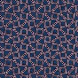 Fond sans couture d'art déco abstrait Modèle géométrique d'échelle de poissons illustration stock